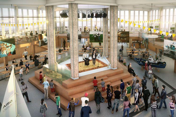 La Halle aux poissons deviendra un espace atypique, entre événements culturels, espaces de restauration et de sensibilisation à l'économie sociale et solidaire