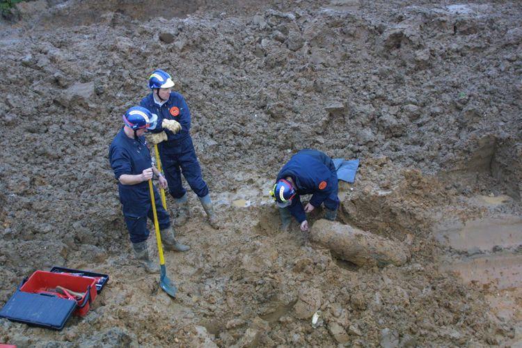 Opération de déminage au stade Youri Gagarine