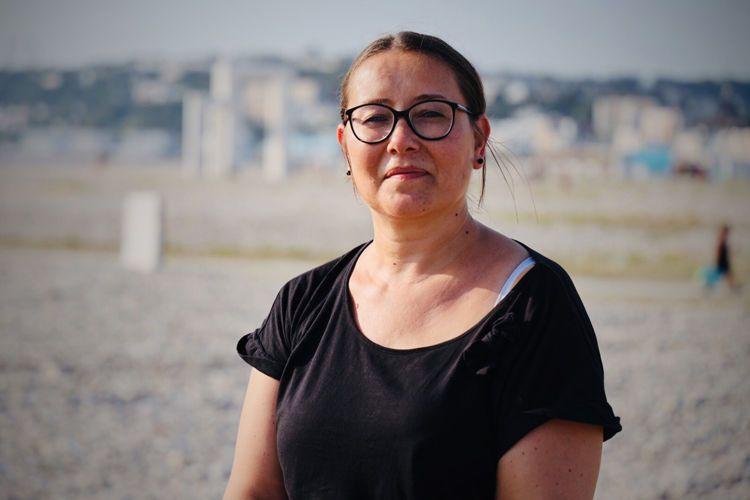 Fanny Asselin, membre du collectif Nettoyer la plage du Havre