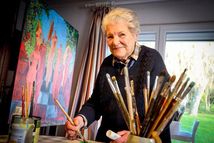 Josette Houel, artiste et promotrice de la création  artistique havraise depuis 1970