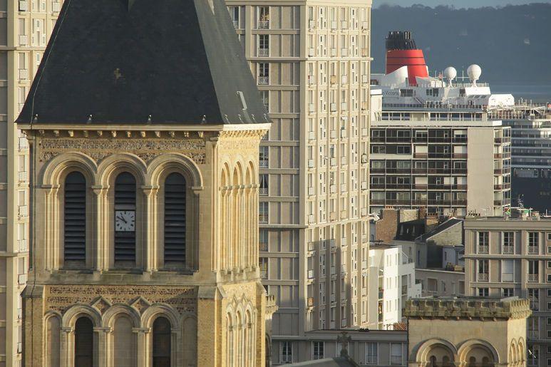 Vue de Saint-Vincent sur le patrimoine Perret, classé au Patrimoine mondial de l'Unesco