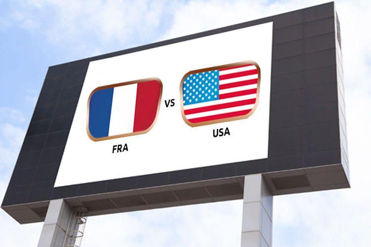 Vivez le quart de finale France - USA sur écran géant à la plage