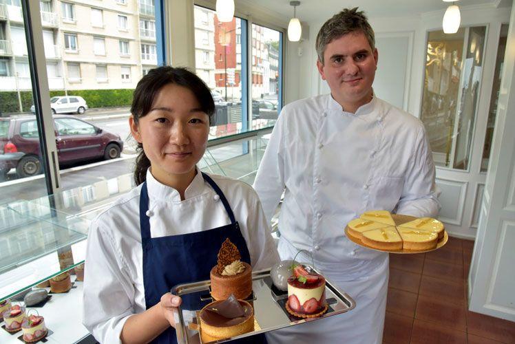 Yoko et Clément proposent une pâtisserie aux saveurs de France et du Japon