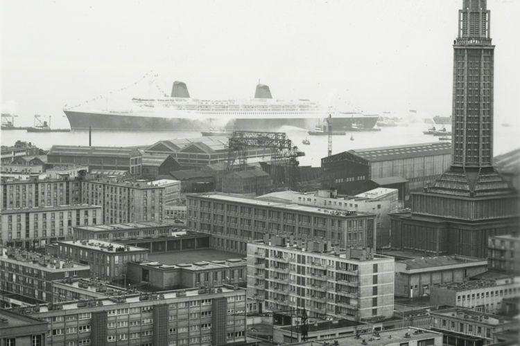 Arrivée du France au Havre, 23 novembre 1961