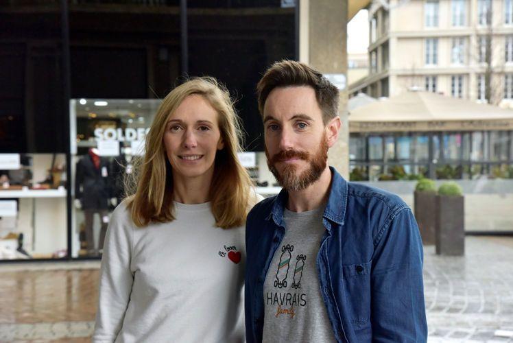 """Julie et Sébastien Lestrelin, créateurs de la marque La capsule havraise : """"L'envie de valoriser tout ce qui se fait au Havre"""""""