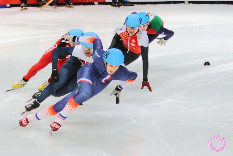 Sébastien Lepape, patineur de vitesse havrais (short track) dispute les Jeux Olympiques de Pyeongchang