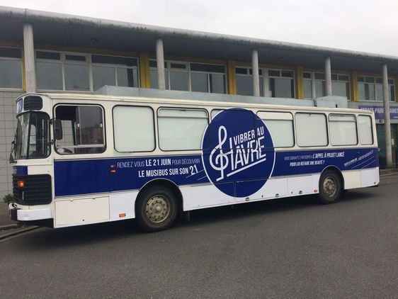 La Ville du Havre lance un appel à projet pour l'habillage graphique de son Minibus Vibrer au Havre