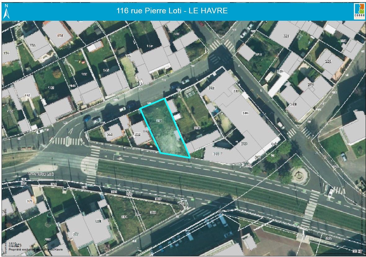Offres immobilières - Terrains nus destinés à la construction d'une maison d'habitation - 116, rue Pierre Loti