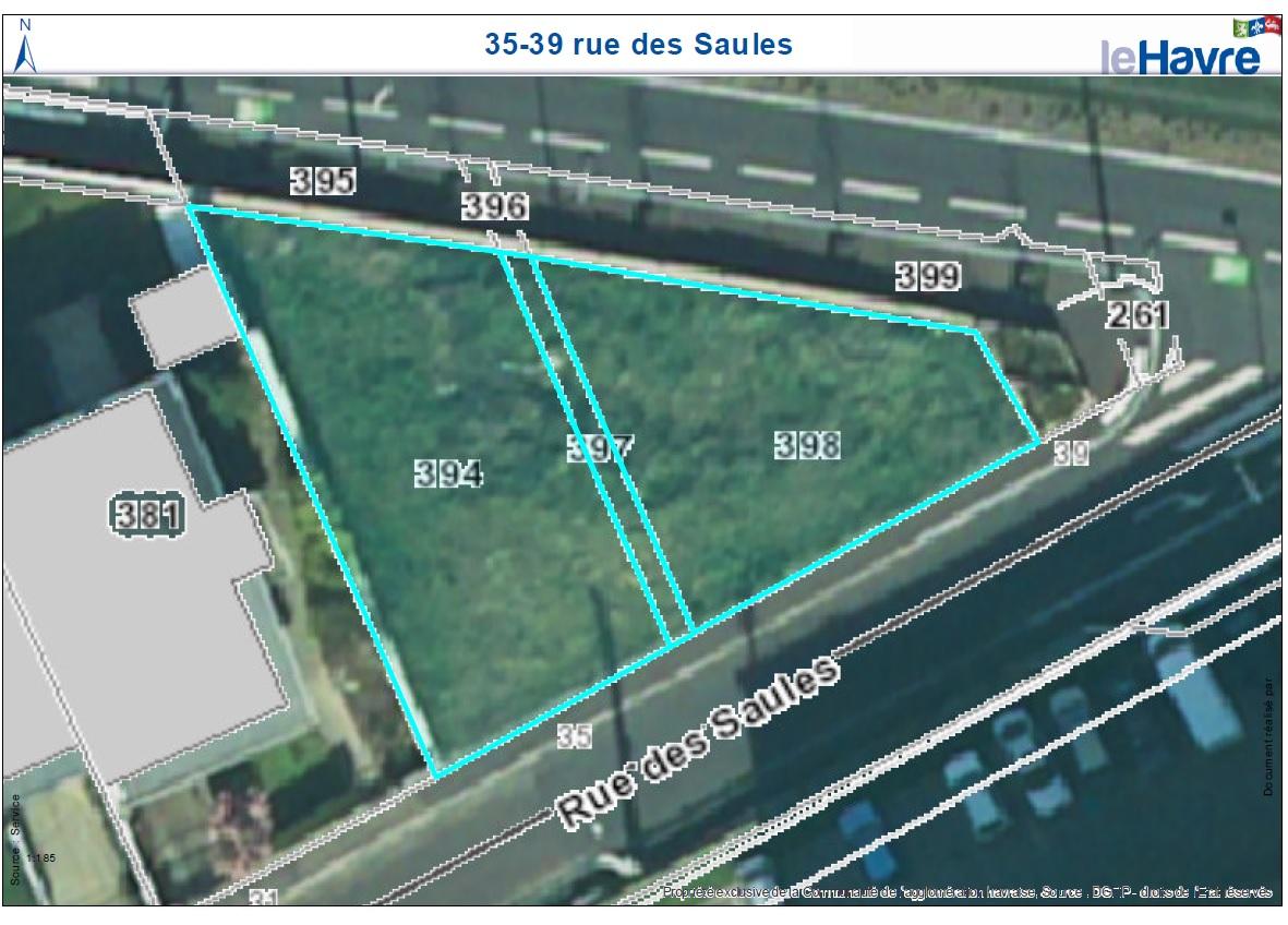 Offres immobilières - Terrains nus destinés à la construction d'une maison d'habitation - 35, 37, 39 rue des Saules