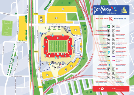 Carte Stade Océane - Coupe du monde féminine