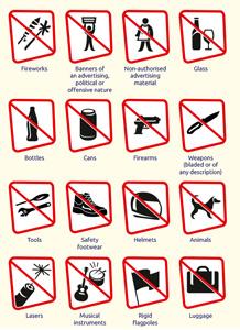 Items prohibited - Coupe du monde féminine