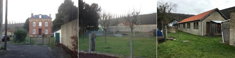 Presbytère, terrains bâtis et nus, situés à Rouelles