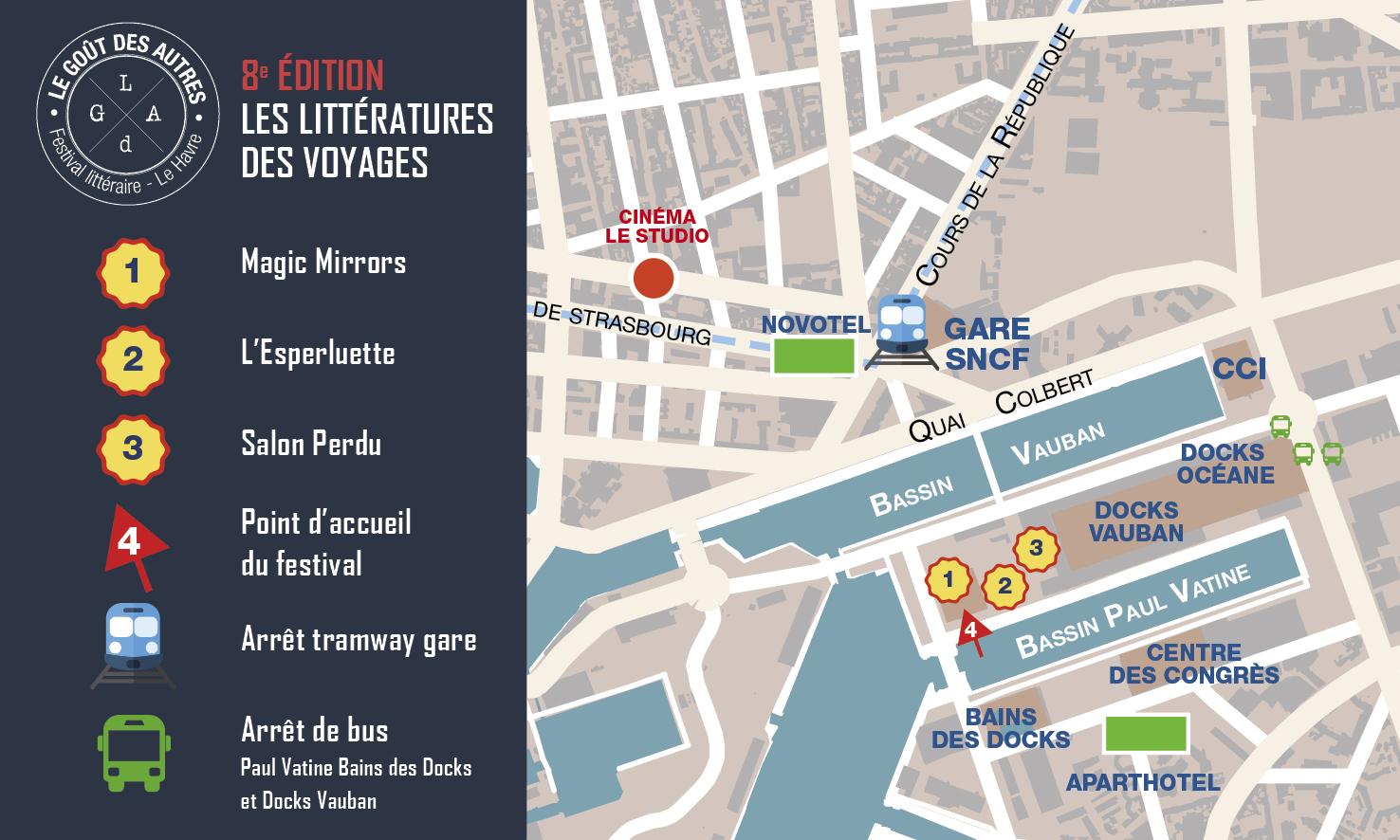 Plan d'accès - 8e édition du festival littéraire Le Goût des Autres